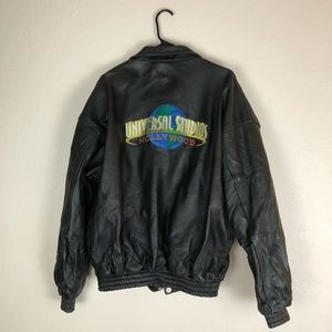 Universal Studio Leather Jacket Size  XXL